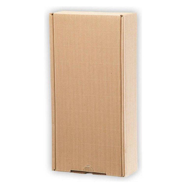 Geschenkkarton Außenwelle,braun, H43 x B21 x T12,5