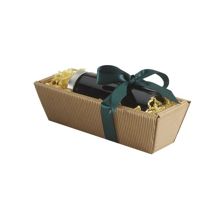 Geschenkkarton eCo-Außenwelle, braun, lang (Packung)