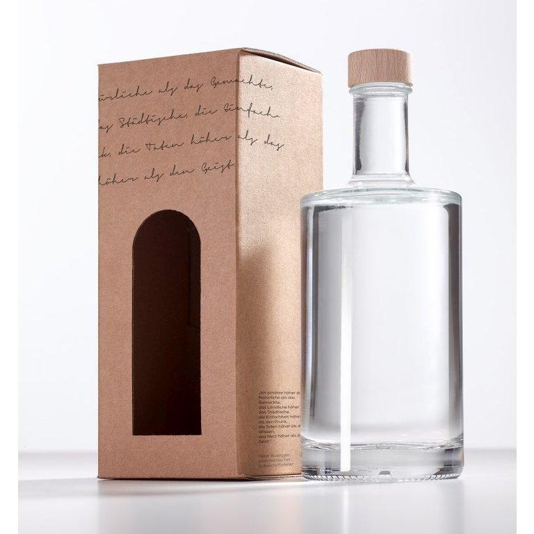 Geschenkkarton Lyrik, 1 x 0,35l VIVA Flasche (Karton)