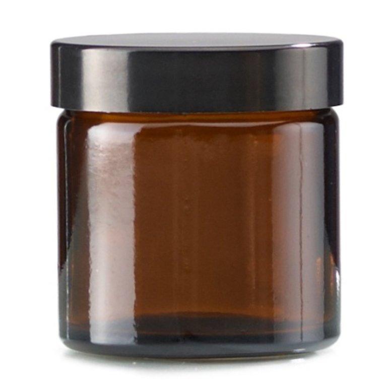 Cremetiegel 60ml, Braunglas, Mdg.: Bak-51s