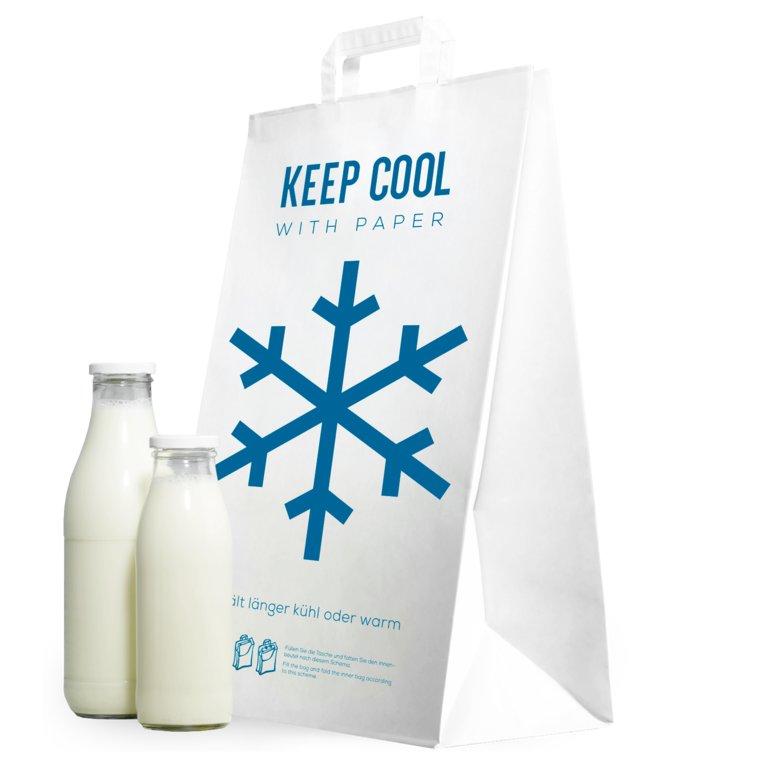 """Kühltragetasche """"KEEP COOL"""" aus Papier"""