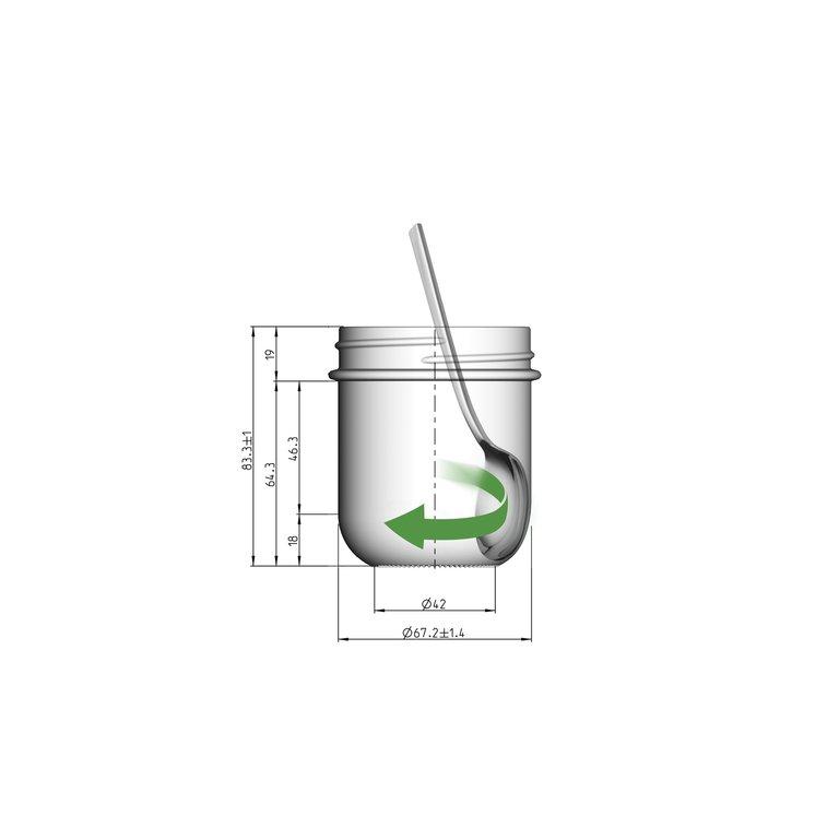 VITA Schraubglas 220ml, Weißglas, Mdg.: Twister 70