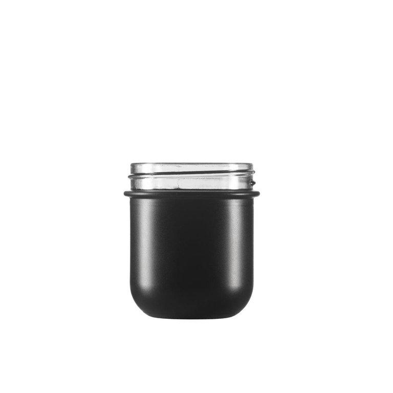 VITA Schraubglas 220ml, schwarz, Mdg.: Twister 70