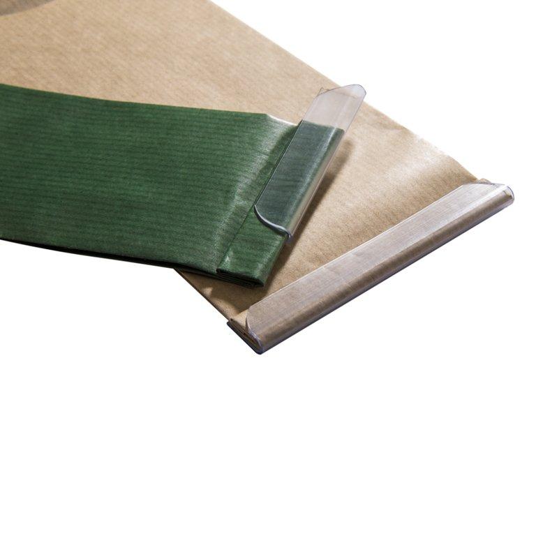 wiederverschlussschiene 105mm transparent karton online bestellen. Black Bedroom Furniture Sets. Home Design Ideas