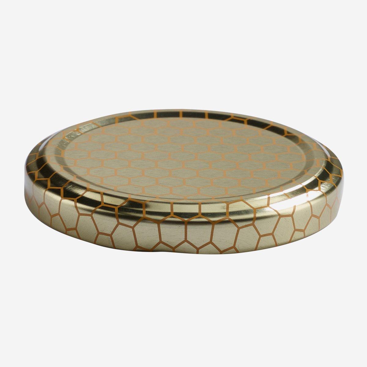 twist off deckel 63mm gold mit wabendekor karton online bestellen. Black Bedroom Furniture Sets. Home Design Ideas