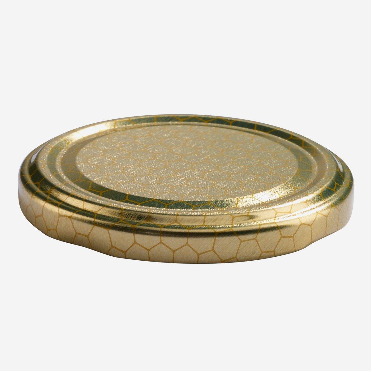 twist off deckel 70mm gold mit wabendekor karton online bestellen. Black Bedroom Furniture Sets. Home Design Ideas