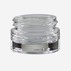 Kosmetik Glastiegel 15ml, Klarglas, schwerer Boden