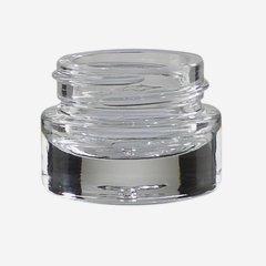 Kosmetik Glastiegel 5ml, Klarglas, schwerer Boden