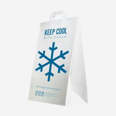 "Cooler bag ""KEEP COOL"" made of paper"