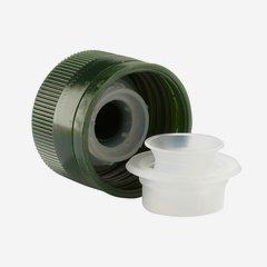 Kunststoffverschluss mit Ausgießer PP 31,5, grün