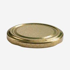 TWIST-OFF DECKEL, ø70mm, gold mit Wabendekor