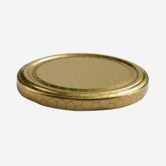 TWIST-OFF DECKEL, ø82mm, gold mit Wabendekor