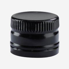 Anrollverschluss deep ø31,5xH24mm, schwarz, Kugel