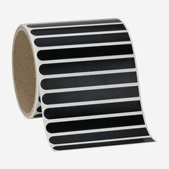 Etikette 10x90mm, schwarz