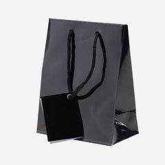 Geschenktragetasche, schwarz, klein