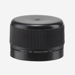 Pilferproof Kunststoffverschluss 28mm, schwarz