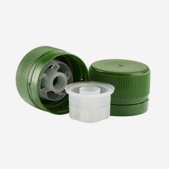 Schraubverschluss mit Ausgießer MCA 28, grün