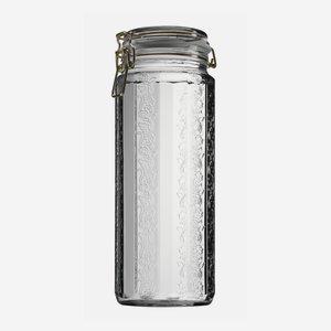 Drahtbügelglas 2250ml, Weißglas, Zwölfkant