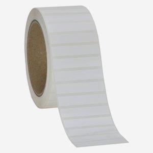 Etikette 10x50mm, weiß - hochglanz