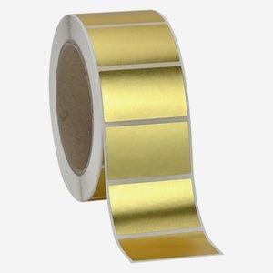 Etikette 30x50mm, gold - matt