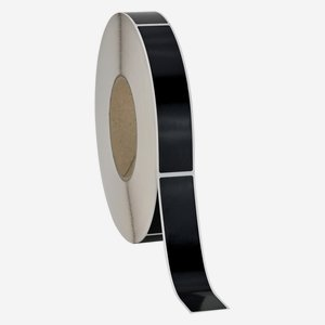Etikette 25x120mm, schwarz