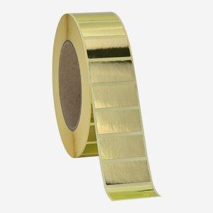Etikette 19x38mm, gold - hochglanz