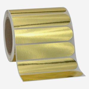 Etikette 30x125mm, Sonderform, Goldfolie