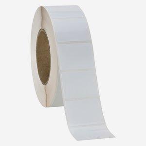 Etikette 30x50mm, weiß - glänzend