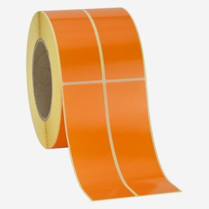 Etikette 135x39mm, orange, 2-bahnig