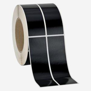 Etikette 135x39mm, schwarz, 2-bahnig