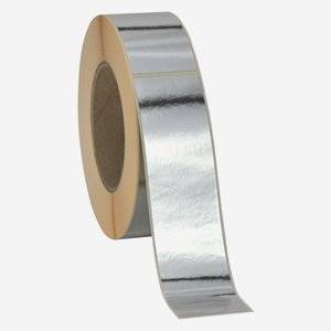 Etikette 40x160mm, silber glänzend