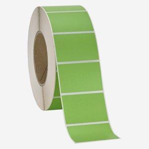 Etikette 40x60mm, grün, quer am Band
