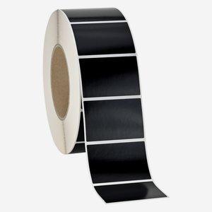 Etikette 40x60mm, schwarz, quer am Band