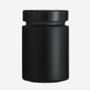 FACTUM Schraubglas 192ml, schwarz, Mdg.: TO58De