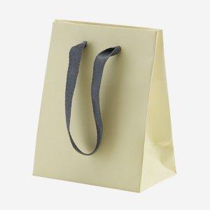 Geschenktragetasche mit Band, Crema