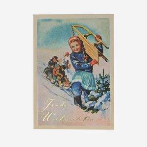 """Grußkarte, Weihnachten """"Winter"""", A6 Format"""