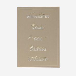 """Grußkarte, Weihnachten """"mehrsprachig"""", A6 Format"""