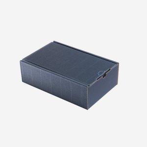 Geschenkkarton Außenwelle, blau,    H26 x B16 x T8