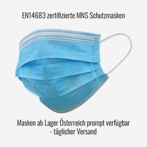 MNS Atemschutzmaske 3-lagig