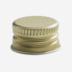 Aluschrauber 18 mm, gold