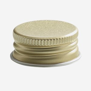 Aluschrauber 28 mm, gold