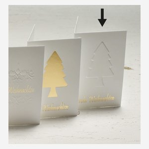 """Geschenkanhänger """"Baum"""" Relief, Weihnachten"""