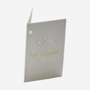 """Geschenkanhänger """"Ornament"""" Relief, Weihnachten"""