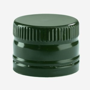 Screw cap without screw thread ø31,5/H24mm, green