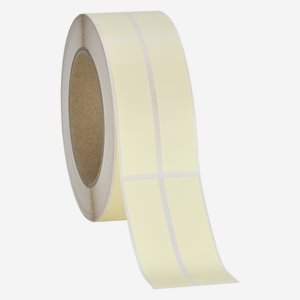 Etikette 20x80mm, creme light, 2 bahnig