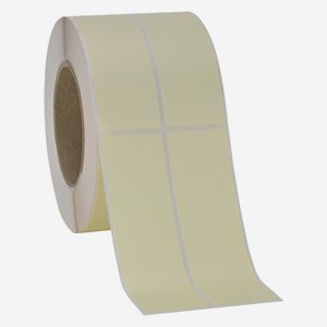 Etikette 135x39mm, creme light, 2 bahnig