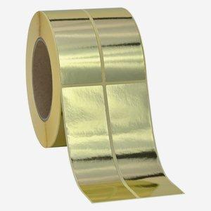Etikette 135x39mm, gold glänzend, 2 bahnig