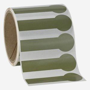Etikette 28x85mm, olive