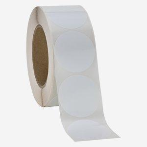 Etikette, ø 52 mm, weiß, rund