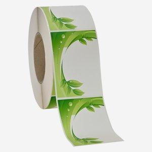 Etikettenserie BLATT, 70x99mm, grün, längs